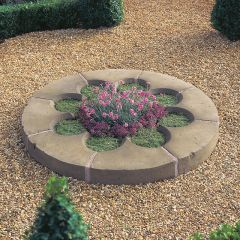 Stone Herb Wheel Planter