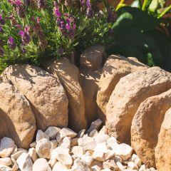 Traditional Stone Border Corner - Pale Cotswold