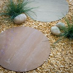 Round Stepping Stone 450mm - Buff Brown
