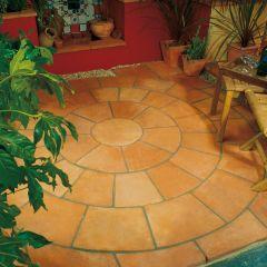 Terracotta Patio Circle