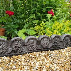Rose and Thistle Decorative Edging - Black
