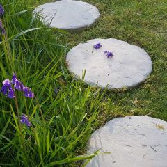 Traditional Round Stepping Stones - Mature Cotswold