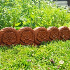 Tudor Rose Decorative Edging - Terracotta